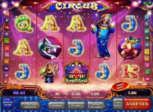 Peliautomaattien ulkonäkö Circus HD
