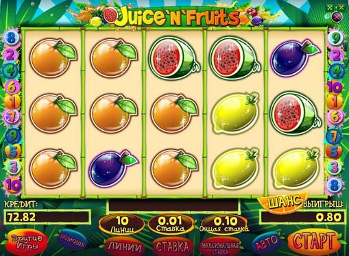 Raha-automaattiyhdistelmä Juice and Fruits