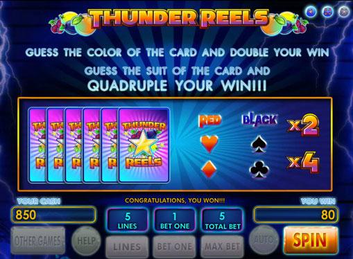 Peliautomaattien kaksinkertaistaminen Thunder Reels
