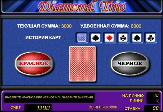 Peliautomaattien kaksinkertaistaminen Diamond Trio