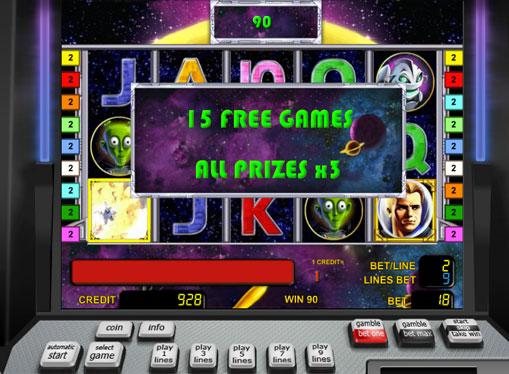 Ilmaiset kierrokset peliautomaatista Golden Planet