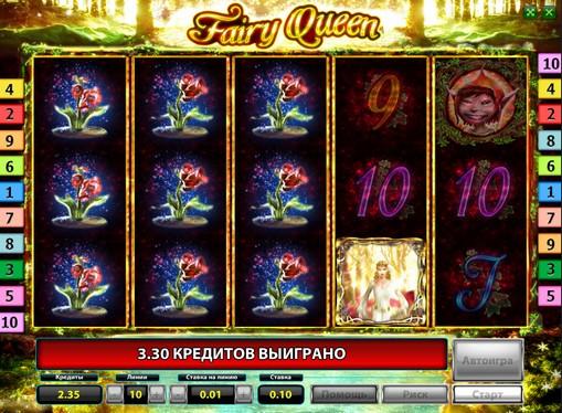 Vapaa pyörii korttipaikkaa Fairy Queen