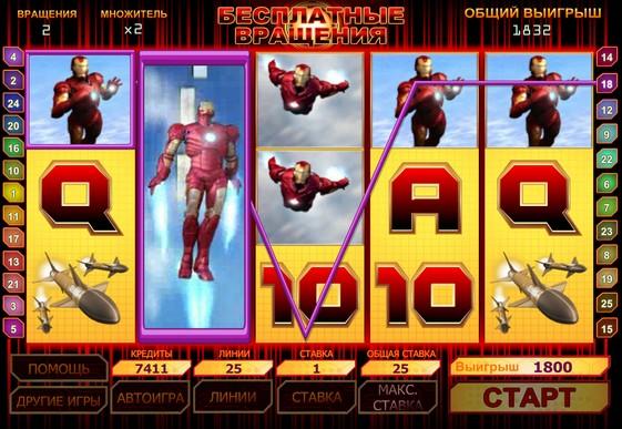 Vapaa pyörii korttipaikkaa Iron Man