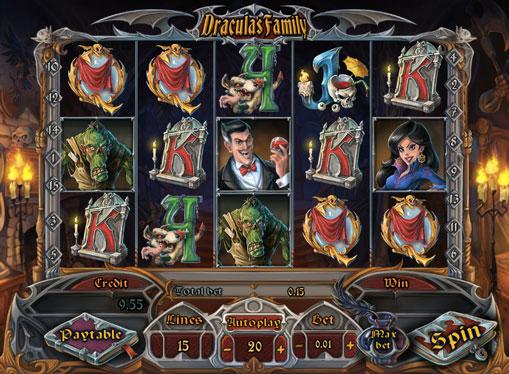Peliautomaatti Dracula`s Family rahaa