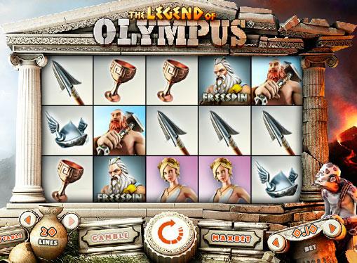 Peliautomaatti Legend of Olympus verkossa rahaksi