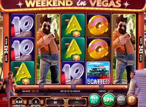 Hedelmäpeli Weekend in Vegas online-pelaaminen peruutuksella