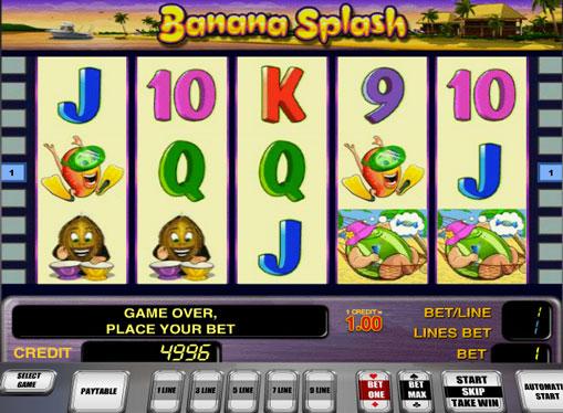 Banana Splash pelaa peliautomaattia verkossa