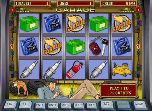 Garage pelaa peliautomaattia verkossa