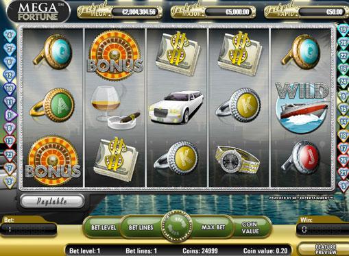 Mega Fortune pelaa peliautomaattia verkossa