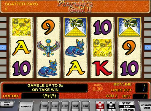 Pharaoh's Gold II pelaa peliautomaattia verkossa