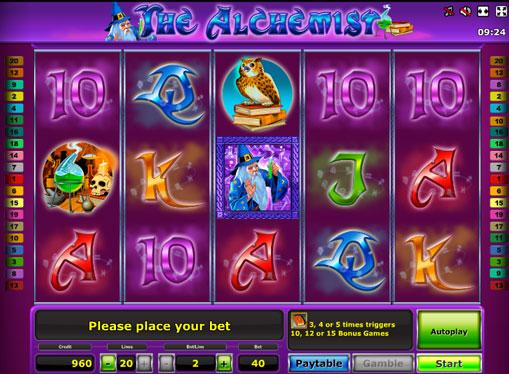 The Alchemist pelaa peliautomaattia verkossa