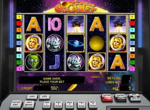Golden Planet pelaa peliautomaattia verkossa