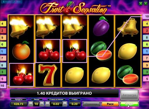 Peliautomaattien ulkonäkö Fruit Sensation Deluxe