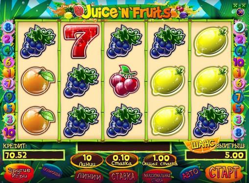 Peliautomaattien ulkonäkö Juice and Fruits