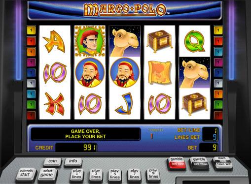 Marco Polo pelaa peliautomaattia verkossa