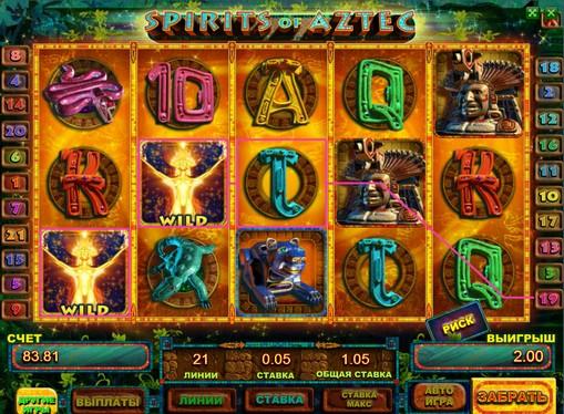 Spirits of Aztec pelaa peliautomaattia verkossa rahaksi