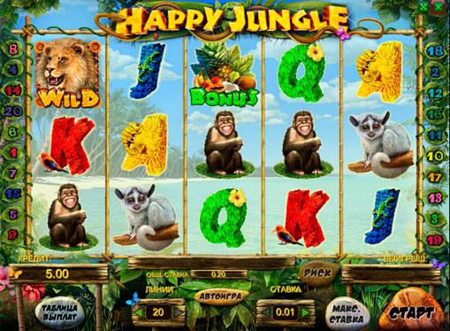 Happy Jungle pelaa peliautomaattia verkossa