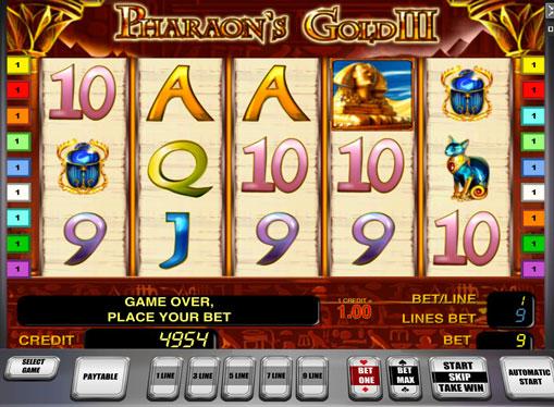 Pharaoh's Gold III pelaa peliautomaattia verkossa