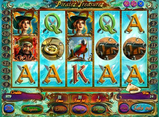 Pirates Treasures pelaa peliautomaattia verkossa rahaksi