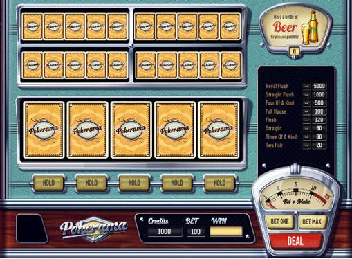 Pokerama pelaa peliautomaattia verkossa rahaksi