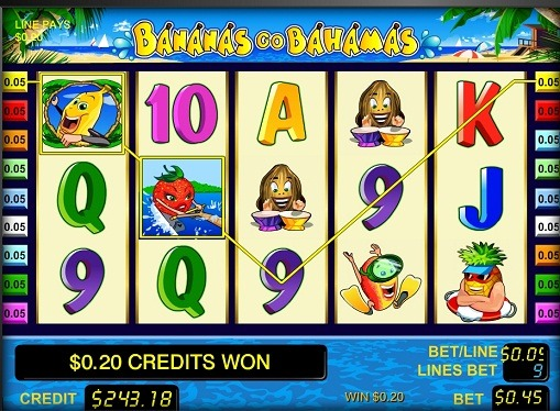 Hedelmäpelin kelat Bananas go Bahamas