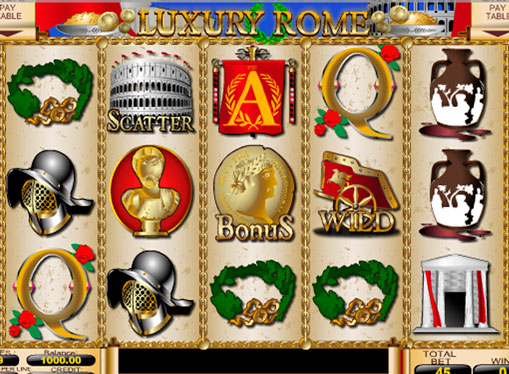 Hedelmäpelin kelat Luxury Rome