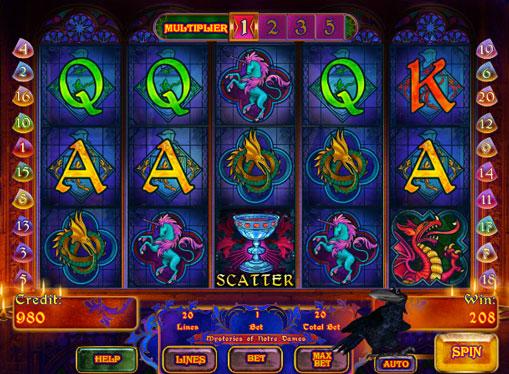 Mysteries of Notre Dames pelaa peliautomaattia verkossa rahaksi