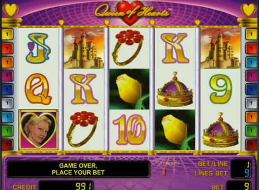 Queen of Hearts pelaa peliautomaattia verkossa rahaksi