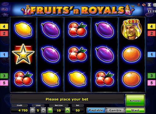 Fruits'n Royals Deluxe pelaa peliautomaattia verkossa