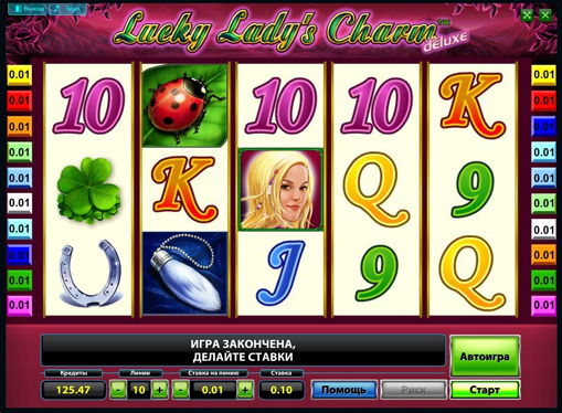 Hedelmäpelin kelat Lucky Ladys Charm Deluxe