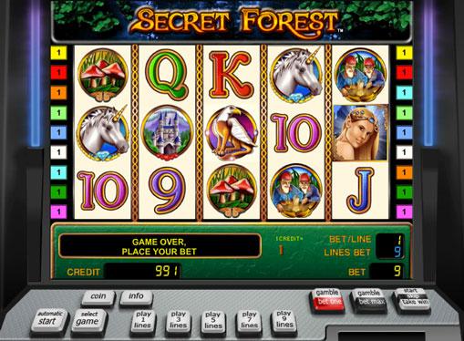 Secret Forest pelaa peliautomaattia verkossa rahaksi