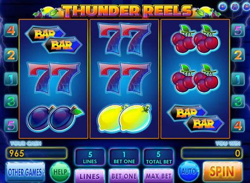 Thunder Reels pelaa peliautomaattia verkossa rahaksi