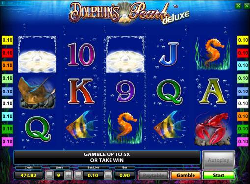Peliautomaattien voittolinja Dolphins Pearl Deluxe